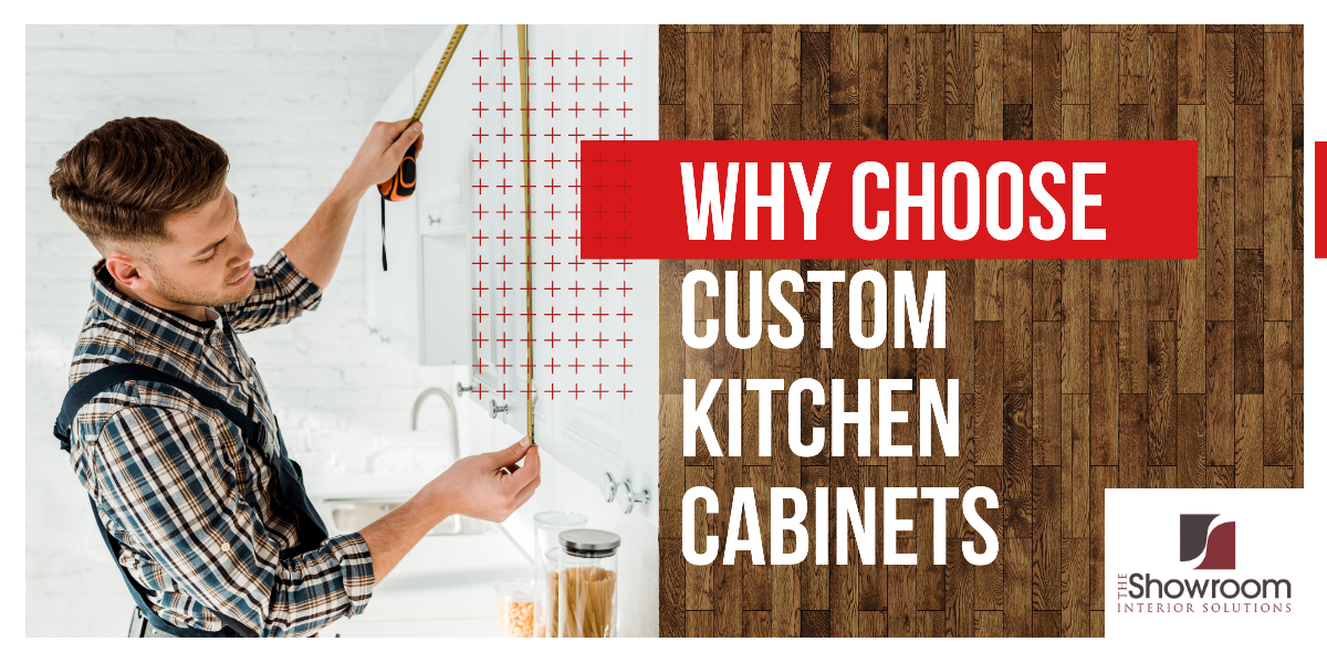 A man taking measurement for custom kitchen cabinets